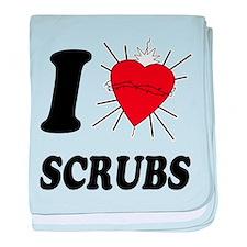 I Sacred Heart Scrubs baby blanket