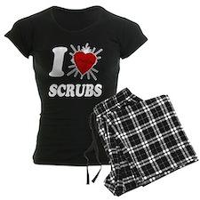 I Sacred Heart Scrubs Pajamas