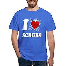 I Sacred Heart Scrubs T-Shirt