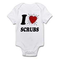 I Sacred Heart Scrubs Infant Bodysuit