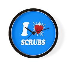 I Sacred Heart Scrubs Wall Clock