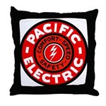 Pacific Electric Throw Pillow
