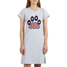 Patriotic Paw Print Women's Nightshirt