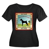 Basenji Women's Plus Size Scoop Neck Dark T-Shirt