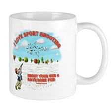 I Love Sport Shooting Mug