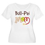 Bull-Pei Dog Mom Women's Plus Size Scoop Neck T-Sh