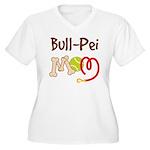 Bull-Pei Dog Mom Women's Plus Size V-Neck T-Shirt