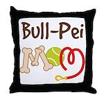 Bull-Pei Dog Mom Throw Pillow
