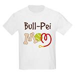 Bull-Pei Dog Mom Kids Light T-Shirt