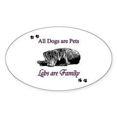 Labs are Family Sticker (Oval)