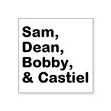 "Supernatural Square Sticker 3"" x 3"""