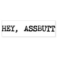 "Supernatural ""ASSBUTT"" Bumper Bumper Sticker"