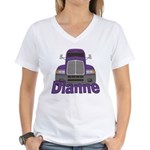 Trucker Dianne Women's V-Neck T-Shirt