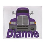 Trucker Dianne Throw Blanket