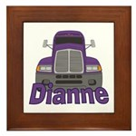 Trucker Dianne Framed Tile