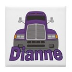 Trucker Dianne Tile Coaster