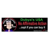 Affirmative Action Bumper Bumper Sticker