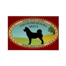 Akita Rectangle Magnet