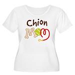 Chion Dog Mom Women's Plus Size Scoop Neck T-Shirt