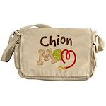 Chion Dog Mom Messenger Bag
