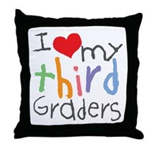 I Love My 3rd Graders Throw Pillow