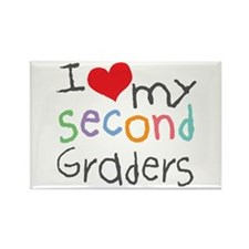 I Love My 2nd Graders Rectangle Magnet (100 pack)