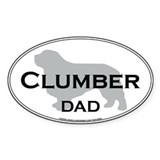 Clumber DAD Oval Decal