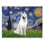 Starry-White German Shepherd Small Poster
