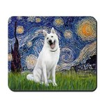 Starry-White German Shepherd Mousepad