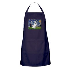Starry-White German Shepherd Apron (dark)