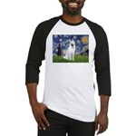 Starry-White German Shepherd Baseball Jersey