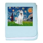 Starry-White German Shepherd baby blanket