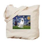 Starry-White German Shepherd Tote Bag