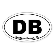 DB (Daytona Beach) Oval Decal