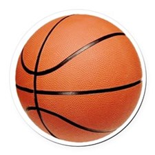 basketball2.png Round Car Magnet