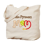 Golden Pyrenees Dog Mom Tote Bag