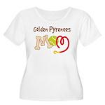 Golden Pyrenees Dog Mom Women's Plus Size Scoop Ne