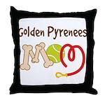 Golden Pyrenees Dog Mom Throw Pillow