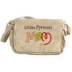 Golden Pyrenees Dog Mom Messenger Bag