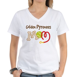 Golden Pyrenees Dog Mom Women's V-Neck T-Shirt