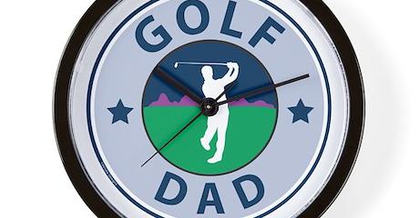 Golf Dad Wall Clock