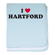 I Love Hartford Connecticut baby blanket