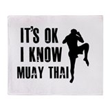Muay Thai Designs Throw Blanket