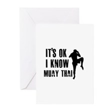 Muay Thai Designs Greeting Cards (Pk of 10)