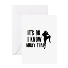 Muay Thai Designs Greeting Card