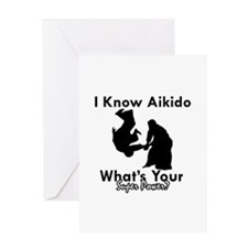 Aikido Is My Superpower Greeting Card