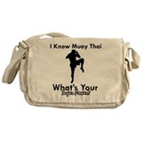 Muay Thai Is My Superpower Messenger Bag