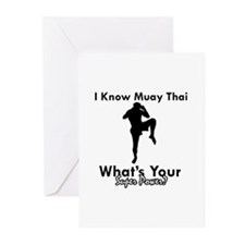 Muay Thai Is My Superpower Greeting Cards (Pk of 2
