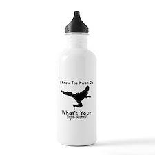 Taekwondo Is My Superpower design Sports Water Bottle