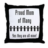 Mom of Many - 9 kids Throw Pillow